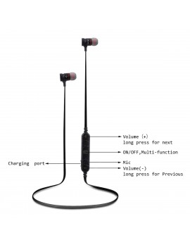 AWEI A920BL Bluetooth V4.1 Wireless Sport Stereo Noise-Cancelling In-Ear Headphones Sweatproof  Mic for ios and android smart phone