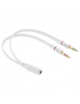 3.5mm Female to 2 Male Adapter Cable
