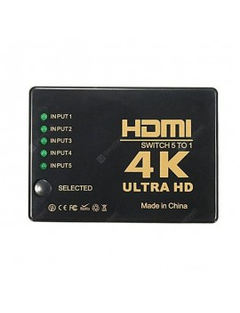 4K  HDMI Hub5 ports (5 in 1 out) Switcher Ultra HD 4 Switch Splitter TV Switcher Ultra HD 1080P/3D for HDTV PC XBOX PS4