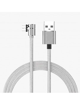 3 in 1 Nylon Braided 90 Degree Elbow Magnetic USB Charging Cable 1M