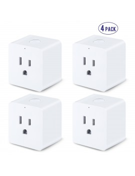 Lampwin 4 Pack WiFi Smart Plug, Remote Control, Timing Function, Compatible with Amazon Alexa & Google Assistant, No Hub Required