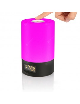 Jiawen Wake Up Light Touch Clock LED RGB and 3 Level White Light Bedside Lamp