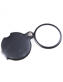 50mm Diameter Leather Case Folding Portable Magnifying Glass Handheld Reading Magnifier