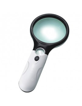 3LED Light 3X 45X Handheld Magnifier Reading Magnifying Glass