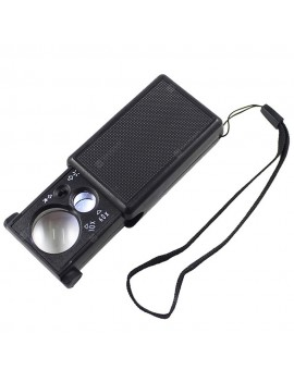 30X 60X Double Lens Jewelry Magnifying Glass