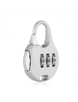 Cartoon Mini Zinc Alloy Silver Password Lock for Suitcase