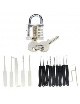 19 In 1 Practice Padlock Set - Lock + Lockpick Combination Tool