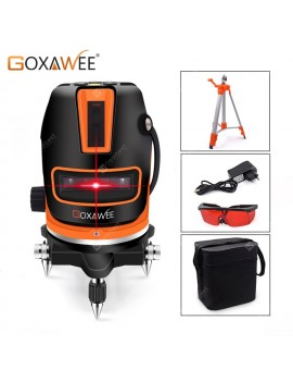 360 Degree 5 Lines 6 Points Laser Level Measuring Tools Vertical Horizontal Rotary Cross Red Laser