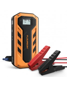 FLOUREON 12000mAh With LED Light 600A Peak Current Jump Starter-EU Plug UK Plug