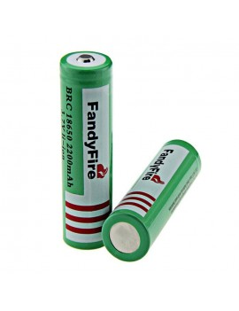 2PCS FandyFire 3.7V 2200mAh 18650 Rechargeable Li-ion Battery