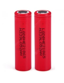 2 x  3.7V 18650 2600mAh Lithium - ion Battery Rechargeable Battery ( 18650HE2 )