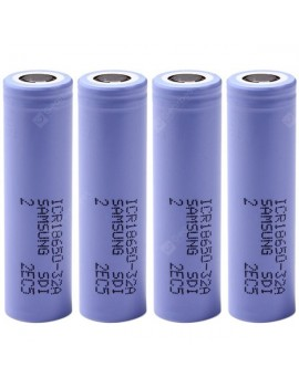 4 PCs of  3.7V 3200mAh 18650 Rechargeable Li - ion Battery ( ICR18650  -  32A )