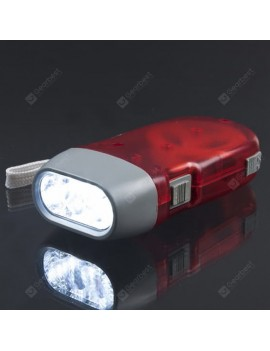3 LED Hand Pressing Dynamo Crank Power Torch Light