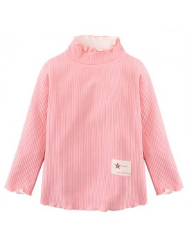 Baby Children Girl Thicken Long Sleeve Turtleneck Sweater