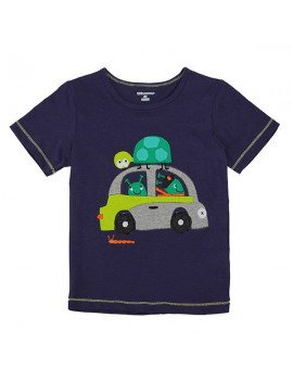 Little Maven Lovely Car Baby Children Boy Cotton Short Sleeve T-shirt Top