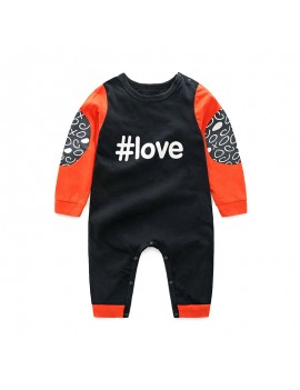 Baby Long Sleeve Button Romper For 0-24 Months