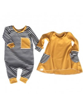 Cute Baby Girls Sister Match Outfits Romper Dresses For 0-24M