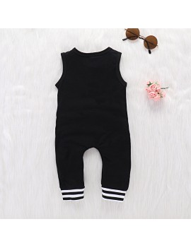 Cute Sleeveless Baby Boy Summer Jumpsuit For 0-24M