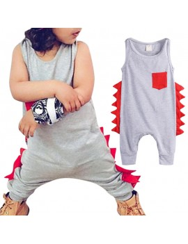 Cute Dinosaur Pattern Baby Boys Chic Romper For 0-36M