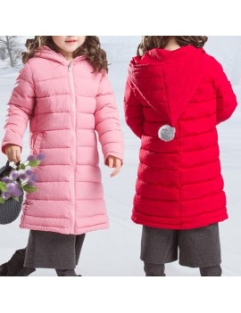 Girls Down Parkas Thick Warm Hooded Winter Coats For 4Y-15Y