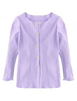 Baby Children Girl Knitting Solid Color Cardigan