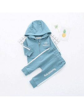 2Pcs Sport Style Spring Kids Clothing Set Boys Girls Hoodies + Jogger Tracksuits Long Pants Set