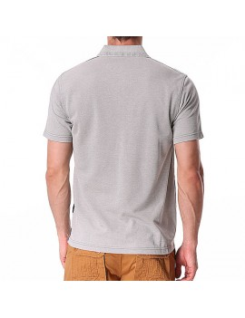 Cotton Stripe Printed Turn-down Collar Short Sleeve Casual Business Golf Shirt for Men