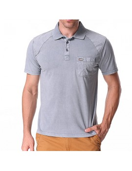 Mens Cotton Breathable Solid Color Turn-down Collar Short Sleeve Casual Golf Shirt