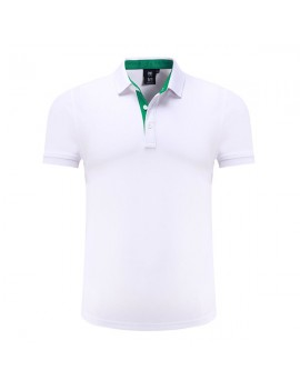Mens Brief Style Solid Color Tops Turn-down Collar Short Sleeve Casual Cotton Golf Shirt