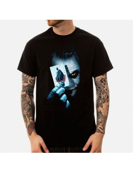 Men's Joker Printed O-Neck Short Sleeve Loose Cotton T-Shirt