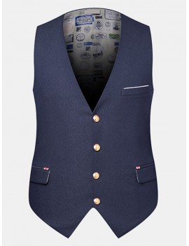 British Style Business Casual Slim Fit Vest for Men