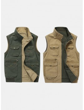 Casual Outdoor Mutil Pockets Photography Fishing Plus Size Vest for Men