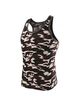 Mens Camouflage Sleeveless Skinny Fit Vest Casual Sport Tank Tops