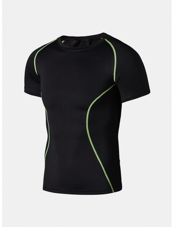 Men's Fitness Outfits Training Working out Quick Dry Breathable Tights T-shirts