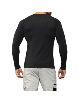 Mens Bodybuilding Quick-drying Fitness Sports Long-sleeved Skinny T-shirt