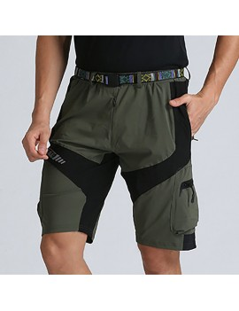 Mens Muti-Pockets Outdoor Shorts Water-repellent Tactical Pants Military Training Shorts