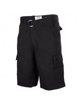 Mens Summer Cotton Breathable Solid Color Regular Fit Casual Knee Length Shorts