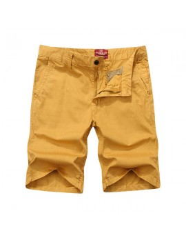 Mens Spring Summer Brief Style Multicolor Casual Cotton Cargo Shorts