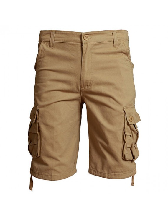 Outdoor Men's Casual Straight Cargo Pants Plus Size Wearable Beach Loose Shorts
