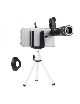 20X Zoom Mobile Phone Clip Telescope Telephoto Camera Lens with Tripod