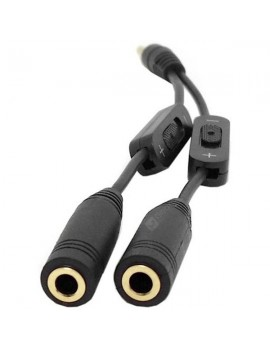 CY RC - 079 Practical 3.5mm Stereo Audio 1 Male to 2 Female Headphone Splitter for Media Player