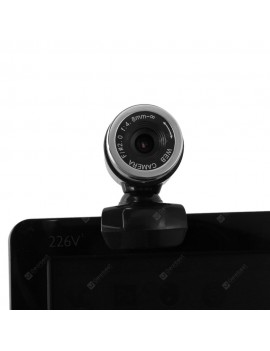 HD Clip on Webcam 360 Degree Rotating Web PC Camera with MIC for PC Laptop