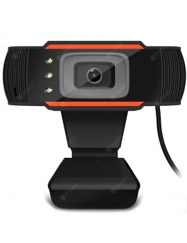 3LED HD Camera Built-in Sound Absorbing Microphone Webcam USB Video