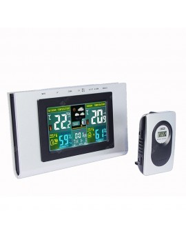XY - TQ3 Weather Forecast Clock Creative Home Wireless Temperature and Humidity Meter LCD Electronic Screen