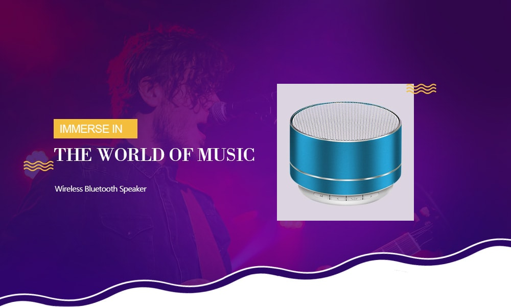 A10 Wireless Bluetooth Speaker Mega Bass Mini Dual Channel Mobile Phone Audio- Black